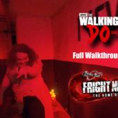 Thorpe Park – Fright Nights 2019 : The Walking Dead – Do or Die Walkthrough – UNCUT