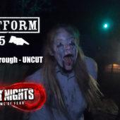 Thorpe Park – Fright Nights 2019 : Platform 15 Walkthrough – UNCUT