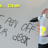 How To Clean Felt Pen off a Desk or Table